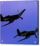 Vought F-4u Corsairs Acrylic Print