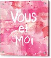 Vous Et Moi Acrylic Print