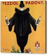 Vov Pezziol - Italian Liquer - Padova, Italy - Vintage Advertising Poster Acrylic Print