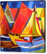 Voyage Of Boats Acrylic Print by Therese AbouNader
