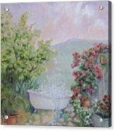 Voyeur At The Secret Garden Health And Beauty Spa Acrylic Print