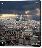 Vue De La Butte Montmartre.roofs Of Paris Acrylic Print