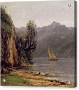 Vue Du Lac Leman Acrylic Print
