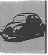 Vw Beetle Acrylic Print by Naxart Studio