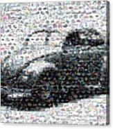 Vw Bug Volkswagen Mosaic Acrylic Print