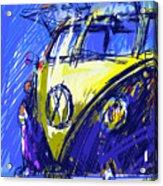 Vw Bus Blue Acrylic Print