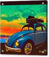 Classic Surf Rod Acrylic Print