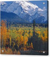 102238-v-w End Of Seven Sisters Mountain  Acrylic Print
