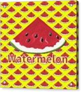 W Is For Watermelon Acrylic Print