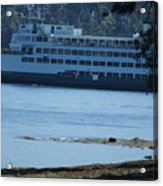 Wa State Ferry In Manchester Acrylic Print
