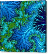 Fractal Art - Wading In The Deep Acrylic Print