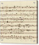 Wagner, Richard Autograph Working Drafts For Act I Of Der Fliegende Hollander Acrylic Print