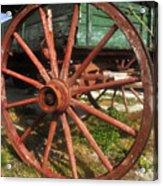 Wagon And Wheel Acrylic Print
