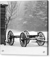 Wagon In Winter Acrylic Print