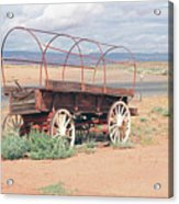 Wagon Of The West Acrylic Print