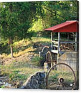 Wagon Shed Acrylic Print by Suzanne Gaff