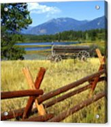 Wagon West Acrylic Print by Marty Koch