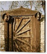 Wagon Wheel Gate Acrylic Print