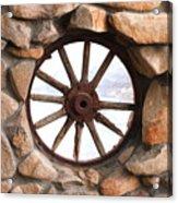 Wagon Wheel Window Acrylic Print