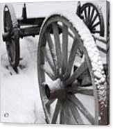 Wagon Wheels In Snow Acrylic Print