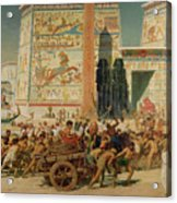 Wagons Detail From Israel In Egypt Acrylic Print by Sir Edward John Poynter