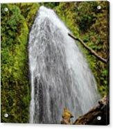 Wahkeena Falls At Footbridge, Oregon Acrylic Print
