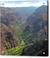 Waiamea Canyon Kauai Acrylic Print