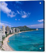 Waikiki And Diamond Head Acrylic Print