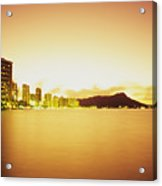 Waikiki At Sunset Acrylic Print