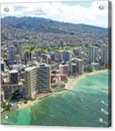 Waikiki From The Air  Acrylic Print