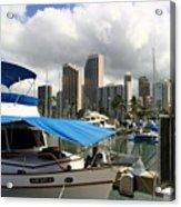 Waikiki Port Acrylic Print