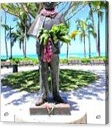 Waikiki Statue - Prince Kuhio Acrylic Print