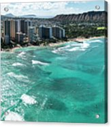 Waikiki To Diamond Head Acrylic Print