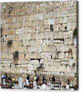 Wailing Wall In Jerusalem Acrylic Print