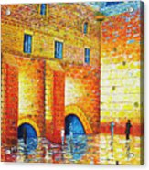 Wailing Wall Original Palette Knife Painting Acrylic Print