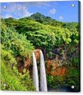 Wailua Falls Kauai Acrylic Print