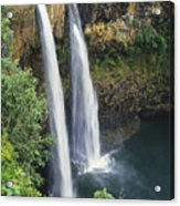 Wailua Falls Surrounded By Foliag Acrylic Print