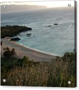 Waimea Bay And Kaiena Point Acrylic Print
