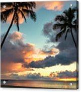 Waimea Beach Sunset 3 - Oahu Hawaii Acrylic Print