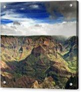 Waimea Canyon Hawaii Kauai Acrylic Print by Brendan Reals
