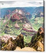 Waimea  Canyon Splendor,  Acrylic Print