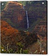 Waimea Canyon Waterfall Acrylic Print