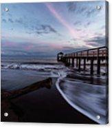 Waimea Pier Acrylic Print
