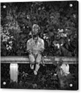 Waiting By The Garden Acrylic Print