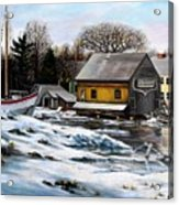 Essex Boatyard, Winter Acrylic Print