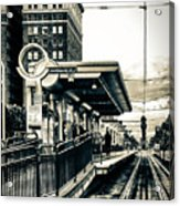 Waiting For The Blue Line Acrylic Print