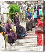 Waiting For The Karmappa Lama Acrylic Print