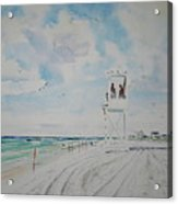 Waiting For The Lifeguard Acrylic Print