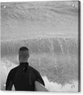 Waiting For The Perfect Wave Acrylic Print