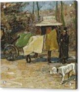 Waiting In A Car Park  Willem De Zwart  1872   1931 Acrylic Print